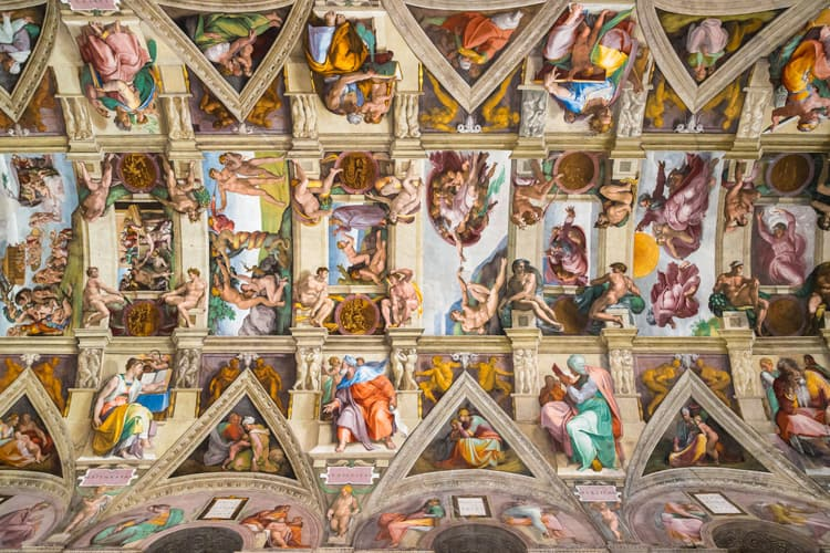 art inside the Sistine Chapel