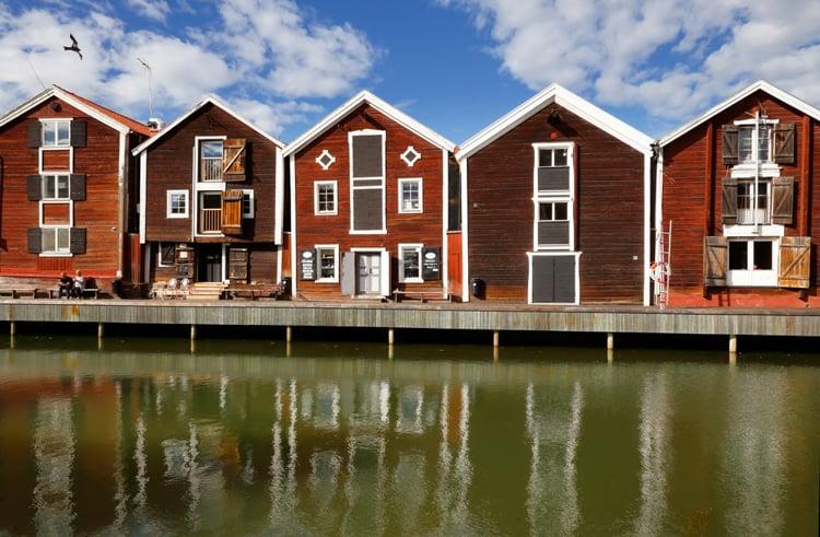 sjöbodarna i Hudiksvall